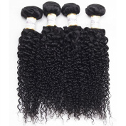 BeautyGrace Kinky Curly 7A Unprocessed Virgin Hair Brazilian Curly Virgin Hair Natural Colour 3pcs