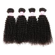 "Gluna Hair 8A Unprocessed Brazilian Kinky Curly Virgin Hair 4pcs Brazilian Virgin Hair Curly Weave Bundles8""10""10""10"""