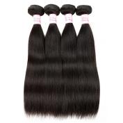 "Gluna Hair 8A Brazilian Virgin Hair Straight Human Hair Weave Bundles 4pcs Unprocessed Brazilian Straight Hair8""8""8""10"""
