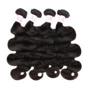 "Gluna Hair 8A Brazilian Hair Weave Bundles 4Pcs Brazilian Virgin Hair Body Wave Unprocessed Human Hair Extensions20""22""22""22"""