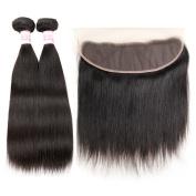 Gluna Hair 8A Brazilian Virgin Hair With Closure 4Pcs Straight Hair Bundles With Ear To Ear 13x4 Lace Frontal Closure20 20 22 22+16