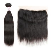 Gluna Hair Lace Frontal Closure With Bundle Brazilian Virgin Hair Straight 3Pcs With Ear To Ear 13×4 Closure22 24 24+18