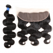 Gluna Hair 4Pcs Brazilian Virgin Hair Body Wave With Lace Frontal Closure 13×4 Ear To Ear Closure With Body Wave Hair18 18 18 20+16