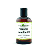 Organic Camellia Seed Oil | Imported From Japan | 120ml Bottle | 100% Pure | 100% Organic | For Hair & Skin Use | By Sweet Essentials