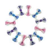 Yiho 30pcs Baby Girls Lace plaid Hair Bows Clips Hair Accessories
