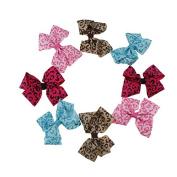 Yiho 20pcs Baby Girls Ribbon Mixed 5 colours Hair Bows Hair Accessories