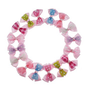 Yiho 25pcs Two layer Baby Girls Clip Pink Hair Bows Hair Accessories