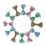 Yiho 30pcs Baby Girls Ribbon Hair Bows Clips Mixed 4 colours Hair Accessories