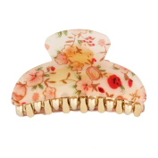 GSM Accessories All Season Floral Medium Size Acrylic Hair Claw HC053-Red