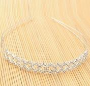 Luxury Square Rhinestone Headband Silver by Ozone48