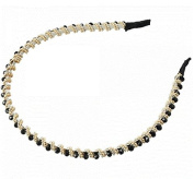 New Style Beautiful and Exquisite Crystal Twisted Beads Hair Band Head Band Black by Ozone48