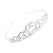 GSM Accessories Womens Rhinestone Wedding Party Alloy Crown Tiara TA002