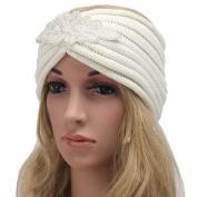 New Fashion Women Jewel Accessory Winter Warm Turban Soft Knit Headband Beanie Crochet Headwrap