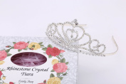 LOVELY SHOP Rhinestone Heart Tiara with Gift Box, No Comb for Wedding Bridal Prom Birthday Pegeant Prinecess Crown