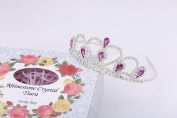 Lovelyshop Purple Gems Rhinestone Tiara with Gift box, no comb for Prom Birthday Prinecess Crown