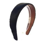 wardani, wide hairy Genuine leather Headband handmade in USA