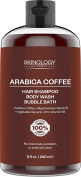 Arabica Coffee Hair Shampoo, Body Wash and Bubble Bath - 100% Pure & Natural Ingredients, Sulphate Free, for Women & Men, Best for All Hair Types - 240ml
