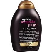 2 Bottles of OGX Repairing Awapuhi Ginger Shampoo 380ml Squeeze Bottle