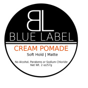 BLUE LABEL CREAM Pomade * Premium Men's Best Hair Styling Product * Soft Hold & Matte Finish