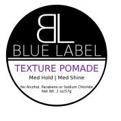 BLUE LABEL TEXTURE Pomade * Premium Men's Best Hair Styling Product Coconut Oil * Medium Hold & Medium Shine