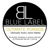 BLUE LABEL ULTIMATE Pomade * Premium Men's Best Hair Styling Product * Ultimate Hold & Semi Matte Shine