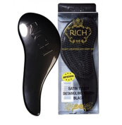 RICH Hair Care Satin Touch Detangling Brush, Black