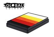 Global Body Art Face Paint - Rainbow Cake Mojave 50gr