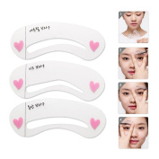 Aisa Eyebrow Stencils Eyebrows Grooming Stencil Kit Shaping Templates DIY Tools Brow Drawing Guide Card