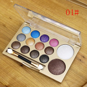 Biutee Professional Eye Makeup 12 Colours Eyeshadow Palette Shimmer Matte Cosmetics Makeup Palette Natural Bright Eye Shadow