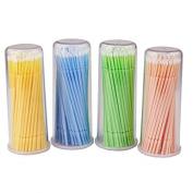 100pcs Eyelash Cleaning Stick Eyelash Brushes For cotton bud eyelash cleaning brush stick