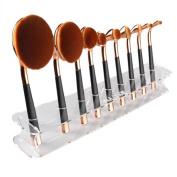 Kingfansion 9 Hole Microscler Makeup Brush Holder Drying Rack Organiser Cosmetic Shelf Tool