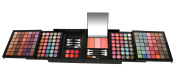 Ivation All-in-One Makeup Kit Gift Set - 168 Colours of Eyeshadows - Wet and Dry, 3 Blushes, 6 Lipsticks - Compact Folding Case with Purse Straps