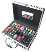 BR Professional Makeup Gift Set Train Trunk Case with Makeup