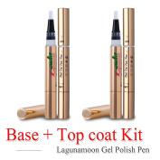 Lagunamoon TO-GO Gel Nail Polish Pen, Base & Top Coat