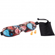 Sleep Mask,3D Contoured Eye Shades,Sponge Sleep Eye Mask Eye Patch with Magic Straps including Carrying Pouch & Ear Plugs