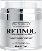 Retinol Cream Moisturiser with Hyaluronic Acid - Daily Moisturising Cream Helps Fight Signs of Ageing and Get Rid of Wrinkles from Face and Eye Area 50ml