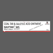 Salytar-WS- Coal Tar & Salicylic Acid Ointment - For Psoriasis & Skin Diseases Like Acne, Blemishes, Skin redness, Dandruff, Calluses and Corns,Itching,Scaling,Flaking, etc.