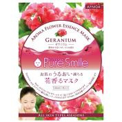 Puresmile, Aroma Flower Essence Mask, Geranium 10pcs, balancing effect