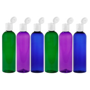 Moyo Natural Labs Psychedelic Trio 120ml Travel Bottle Set BPA Free Refillable 120ml bottle Refillable Container Made in USA Green Blue Purple Pack of 6