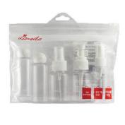 Coshine LML Refllable White Empty PET Travel Bottle Set, 5pcs