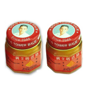2pcs Vietnam Tower Balm Ointment Pain Relieving Patch Body Massage Neck Massager