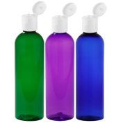 Moyo Natural Labs Psychedelic Trio 120ml Travel Bottle Set BPA Free Refillable 120ml bottle Refillable Container Made in USA Green Blue Purple Pack of 3