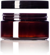 240ml Amber Single Wall PET Plastic Jars with Black Twist Lids