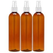 MoYo Natural Labs BPA free 240ml SPRAY BOTTLE with Hand Pump Spray 240ml MIST BOTTLE Fine Mist Spray Bottle Made in USA Black 240ml Pump Spray Pack of 3 Amber