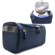 Hanging Travel Toiletry Bag For Men or Women- Perfect For Grooming Shaving Dopp Kit & Travel Size Toiletries.