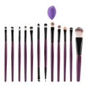 Sungpunet 12Pcs Makeup Brush Sets with Sponge Puff