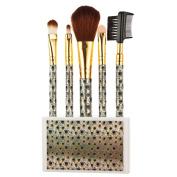 Brushes Set, Misaky 5pcs Peacock Markings Cosmetic Makeup Brush Kit With Holder