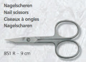 Solingen Germany stainless steel pointed nail scissors 851-r 9 cm