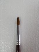Professional EX Kolinsky Acrylic Nail Brush Round Size # 10 - Buy 2 get 1 FREE Airbrush Stencil