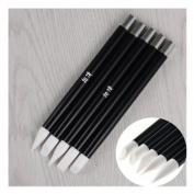 5Pcs/set Nail Art Carving Pen Set Different Shape Soft Silicone Engraving Pen Manicure Tool